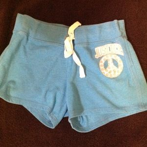 Girls JUSTICE sz 12 turquoise short